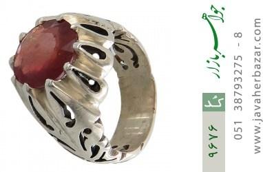 انگشتر یاقوت آفریقایی رکاب دست ساز - کد 9676