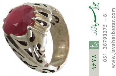انگشتر یاقوت آفریقایی رکاب دست ساز - کد 9678