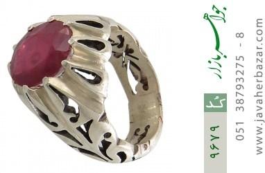 انگشتر یاقوت آفریقایی رکاب دست ساز - کد 9679