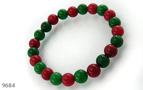 دستبند جید دو رنگ زنانه - عکس 1