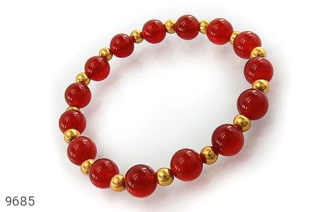 دستبند عقیق خوش رنگ زنانه - عکس 1