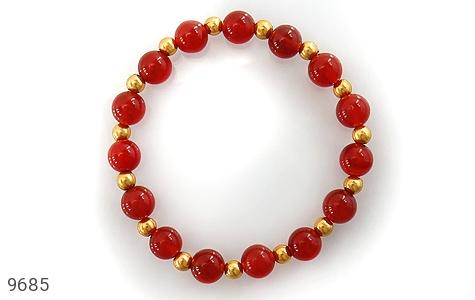 دستبند عقیق خوش رنگ زنانه - تصویر 2