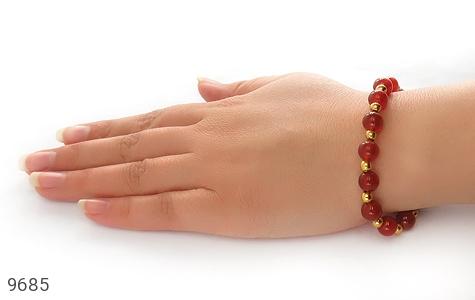 دستبند عقیق خوش رنگ زنانه - تصویر 6