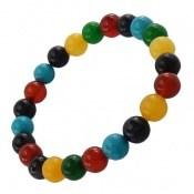 دستبند دلربا و عقیق و جید رنگارنگ زنانه