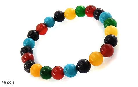 دستبند دلربا و عقیق و جید رنگارنگ زنانه - عکس 1