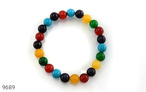 دستبند دلربا و عقیق و جید رنگارنگ زنانه - تصویر 2