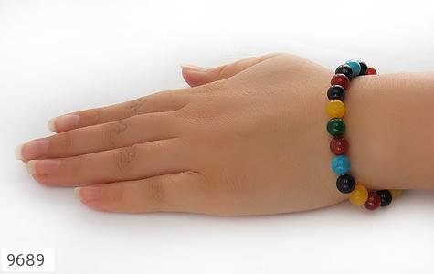 دستبند دلربا و عقیق و جید رنگارنگ زنانه - عکس 5