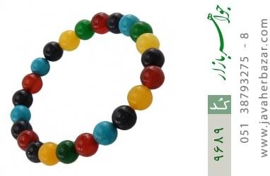 دستبند دلربا و عقیق و جید رنگارنگ زنانه - کد 9689