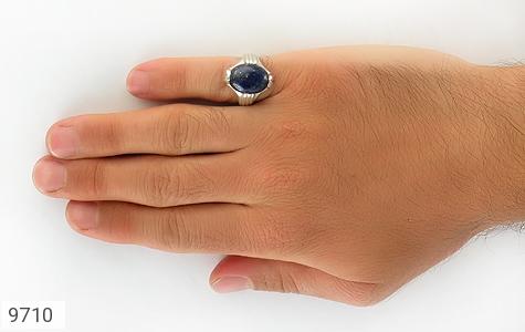 انگشتر لاجورد رکاب دست ساز - عکس 7