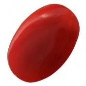 نگین تک عقیق سرخ خوش رنگ