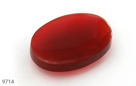 نگین تک عقیق سرخ خوش رنگ - عکس 1