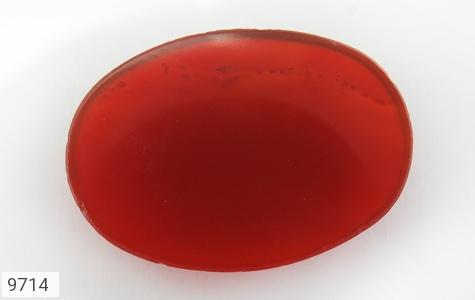 نگین تک عقیق سرخ خوش رنگ - عکس 3