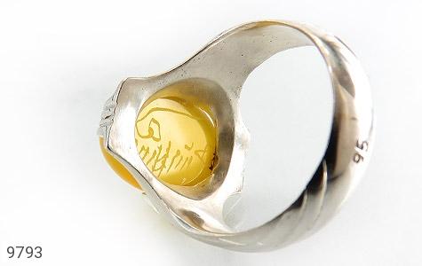 انگشتر عقیق حکاکی شرف الشمس رکاب دست ساز - تصویر 6