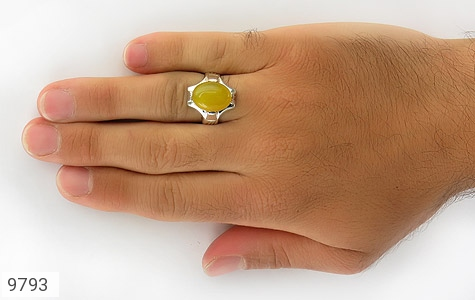 انگشتر عقیق حکاکی شرف الشمس رکاب دست ساز - تصویر 8