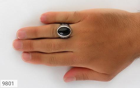 انگشتر عقیق قلم زنی یا رضا یا حسین - تصویر 8
