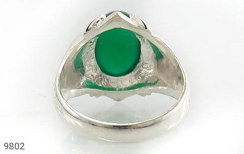 انگشتر عقیق سبز خوش رنگ مردانه - تصویر 4