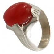 انگشتر عقیق سرخ دست ساز مردانه