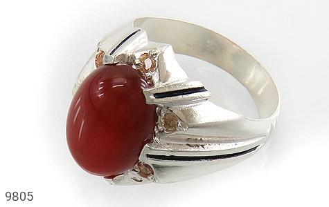 انگشتر عقیق سرخ خوش رنگ مردانه - عکس 1