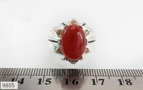 انگشتر عقیق سرخ خوش رنگ مردانه - تصویر 6