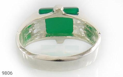 انگشتر عقیق سبز خوش رنگ صفوی مردانه - تصویر 4