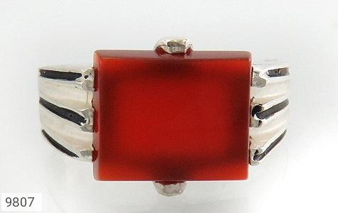انگشتر عقیق سرخ خوش رنگ مردانه - تصویر 2