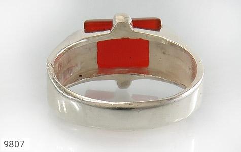انگشتر عقیق سرخ خوش رنگ مردانه - تصویر 4
