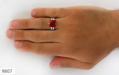 انگشتر عقیق سرخ خوش رنگ مردانه - عکس 7