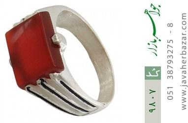 انگشتر عقیق سرخ خوش رنگ مردانه - کد 9807