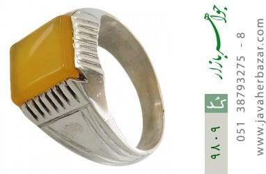 انگشتر عقیق حکاکی شرف الشمس رکاب دست ساز - کد 9809