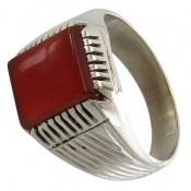 انگشتر عقیق سرخ خوش رنگ دست ساز مردانه