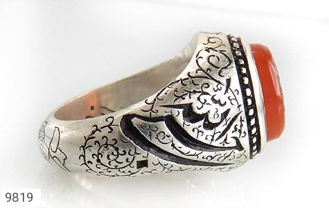 انگشتر عقیق یمن حکاکی حسبی الله استاد حکاک حکاکی و قلم زنی حسبی الله توکلت علی الله هنر دست استاد گنجی - عکس 3
