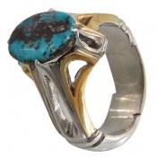 انگشتر فیروزه نیشابوری خوش طبع مرغوب شجر مردانه