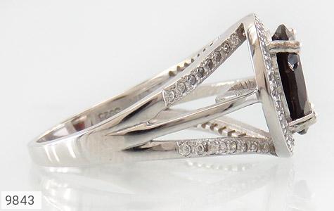 انگشتر یاقوت خوش رنگ طرح دو حلقه ای زنانه - عکس 3
