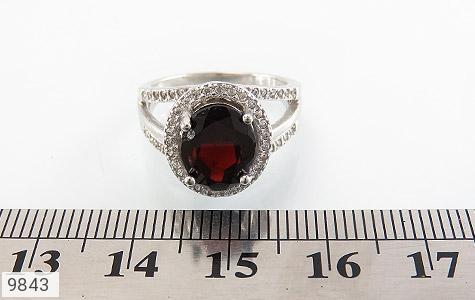 انگشتر یاقوت خوش رنگ طرح دو حلقه ای زنانه - تصویر 6