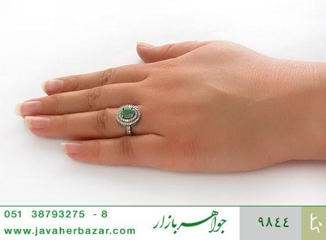 انگشتر زمرد مرغوب زنانه - عکس 7