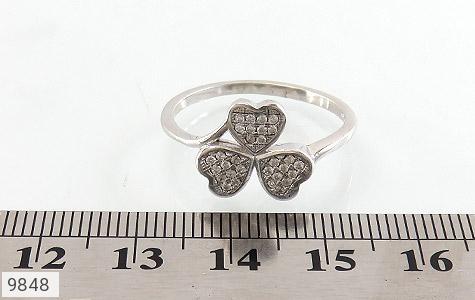انگشتر نقره درخشان طرح گل زنانه - عکس 5