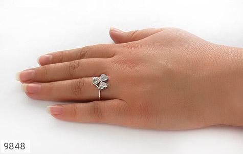 انگشتر نقره درخشان طرح گل زنانه - تصویر 6