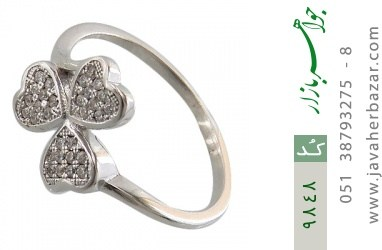 انگشتر نقره درخشان طرح گل زنانه - کد 9848