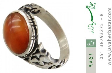 انگشتر عقیق صفوی مردانه - کد 9851