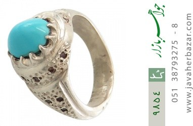 انگشتر فیروزه نیشابوری لوکس هنر دست استاد جراح - کد 9854