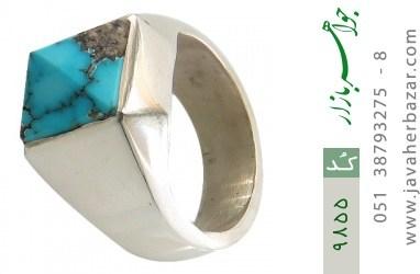 انگشتر فیروزه نیشابوری رکاب دست ساز - کد 9855
