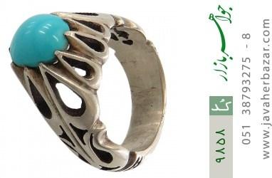 انگشتر فیروزه نیشابوری هنر دست استاد شمعدانی - کد 9858