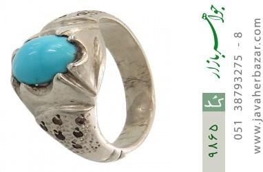 انگشتر فیروزه نیشابوری لوکس هنر دست استاد جراح - کد 9865