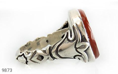 انگشتر عقیق یمن حکاکی یا ابا محمد المجتبی استاد نایب رکاب دست ساز - عکس 3