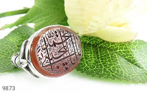 انگشتر عقیق یمن حکاکی یا ابا محمد المجتبی استاد نایب رکاب دست ساز - عکس 5