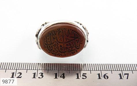 انگشتر عقیق یمن حکاکی یا ابا عبدالله الحسین استاد نایب رکاب دست ساز - تصویر 6