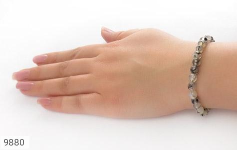 دستبند عقیق شجر تیره و جذاب - عکس 5