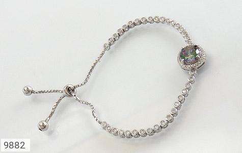 دستبند توپاز هفت رنگ طرح آسانسوری زنانه - عکس 1