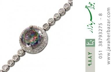 دستبند توپاز هفت رنگ طرح آسانسوری زنانه - کد 9882