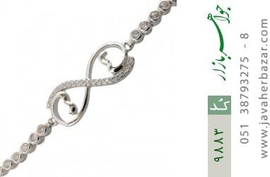 دستبند نقره آسانسوری طرح دلبر زنانه - کد 9883